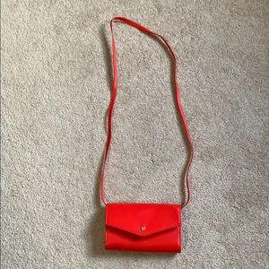 Red crossbody purse